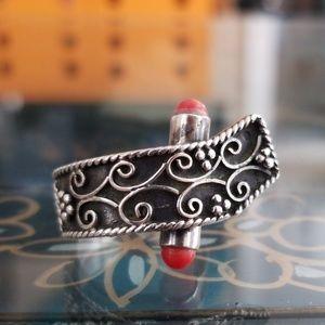 VTG Sterling Silver Adjustable Ring Size 8.25